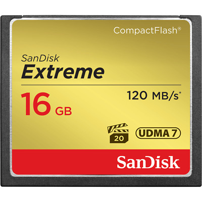 16GB SanDisk Extreme CompactFlash CF Card 120MB/S SDCFXS-016G For CANON Nikon