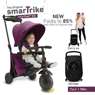 smarTrike smarTfold 500 Folding Trike Purple - NEW