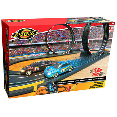 Fast Lane Parallel Looping Road Racing Set