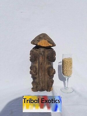 authentic tribal African Art - Ambete Janus Fertility Figure Sculpture Statue