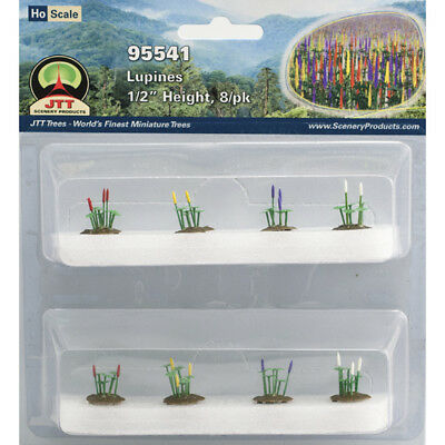 "JTT Scenery Products-HO Lupines, .5"" tall (8)"