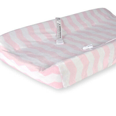 Babies R Us Deluxe Change Pad Cover - White & Pink Chevron