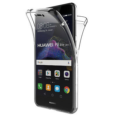 Cover Per Huawei P8 Lite 2017 Full Body 360 Fronte Retro Custodia Trasparente
