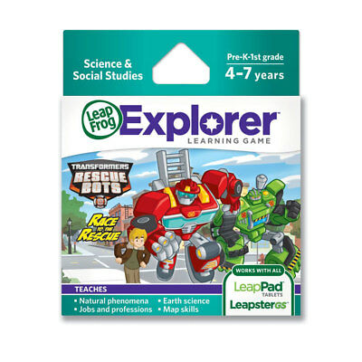 LeapFrog Explorer Learning Game: Transformers Rescue Bots Race to the Rescue - N
