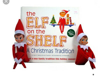 Christmas Novelty BOY AND GIRL elf on a shelf plus book