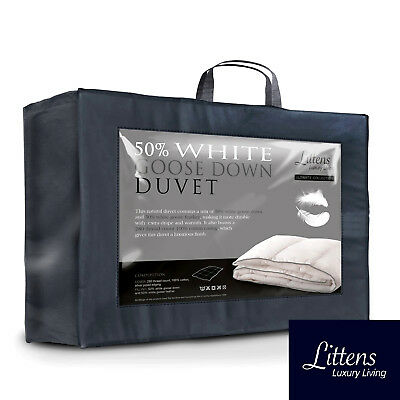 Ultimate 50% Pure White Goose Down & 50% Feather Duvet Quilt 280TC Cotton