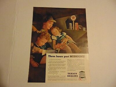 1940-TEXACO DEALERS RESTROOM Family past midnight-vintage print ad -A51
