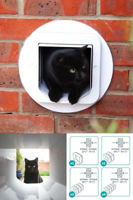 Microchip Cat SureFlap Tunnel Multiple Extender Installed In A Wall White