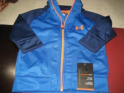 Boys Under Armour Allseasongear Full Zip Track Top Size 3/6 Months Blue Nwt
