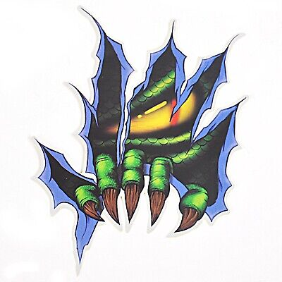 1x Reflective Green Claw Yellow Eye Sticker Decal for Motorcycle Motorbike Car