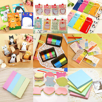 Random Cute Cartoon Sticker Post It Bookmark Memo Pads Index Flag Sticky Note
