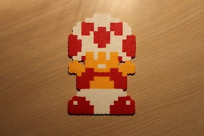 Toad Pixel Art Bead Sprite from Super Mario Bros for NES