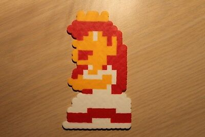 Princess Toadstool Pixel Art Bead Sprite from Super Mario Bros for NES