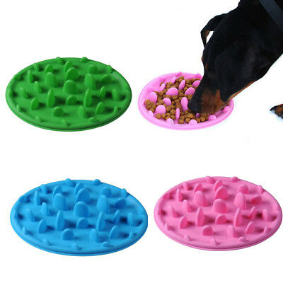 Pet Puppy Dog Cat Slow Feeder Anti Slip Choke NoGulp Bloat Water Bowl Feed Dish