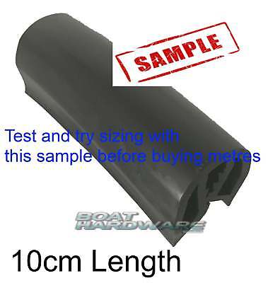 40mm Gunwale Flexible Rubber PVC Gunnel Boat Strip Edging BLACK SAMPLE