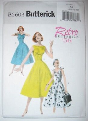 Butterick Sewing Pattern B5603 5603 Ladies Dress Retro '56 6-12 14-20 Vintage