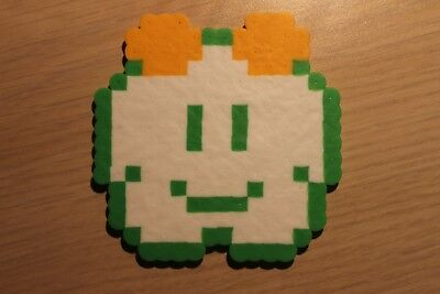 Lakitu Cloud Pixel Art Bead Sprite from Super Mario Bros for NES