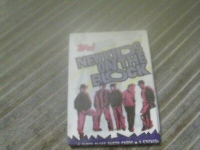 10- 1989 Topps New Kids on The Block Unopened Packs 8 of Cards 1 Sticker