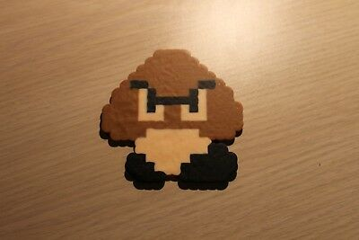 Goomba Pixel Art Bead Sprite from Super Mario Bros for NES