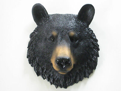 BLACK BEAR head WALL MOUNT Decoration LODGE CABIN Log