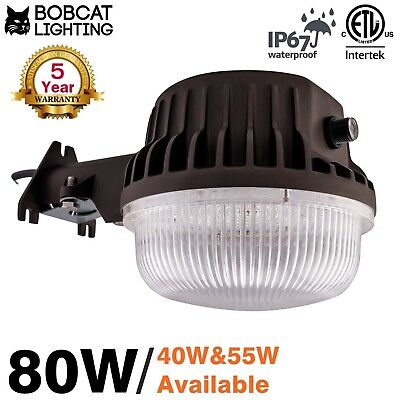 Bobcat 80W LED Area Light Dusk to Dawn Photocell Included, 5000K Daylight, 85...