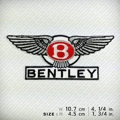 New BENTLEY EMBROIDERED PATCH IRON ON or SEW. Luxury Motorcars Decorate Clothes
