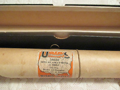 Vintage US Send Me Away With A Smile Player piano roll World Roll 1917 music