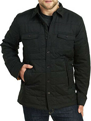 NWT Timberland New $128 Men's Black Mill Brook Quilted Overshirt Jacket Size XL