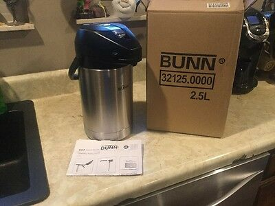 Bunn 2.5L Coffee Beverage Pump Insulated Stainless Dispenser Urn -