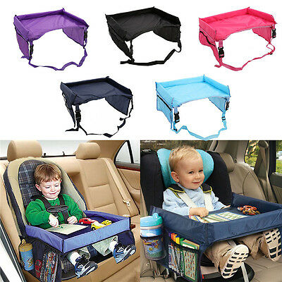Safety Waterproof Baby Car Seat Table Kids Travel Play Snack Tray Drawing Board