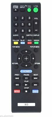 Replacement Remote Control for Sony BDP-S4500 Blu Ray Player