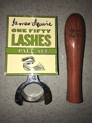James Squire One Fifty Lashes Beer Tap Wooden Handle Metal Badge Keg Hardware