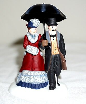 Department 56 Miniature Figurine Under The Bumbershoot Dickens Village in box
