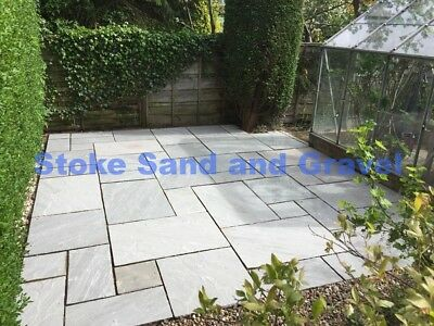 Kandla Grey paving 19.52m2 Patio pack Indian SandStone Mixed Silver Grey 2x2 3x2