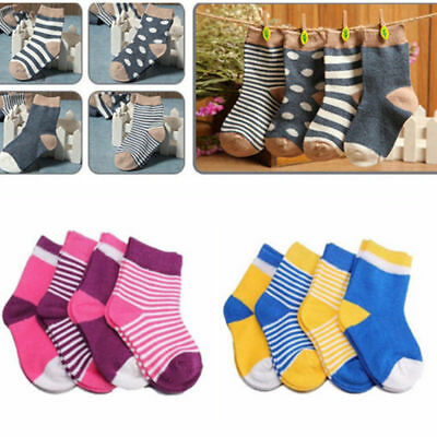 4 Pairs/set Socks NEW 0-3 Years Cotton Kids Baby Soft Lovely HOT Newborn Infant