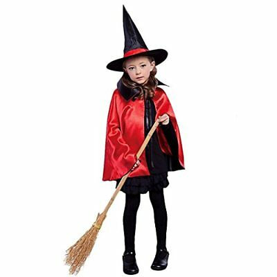 Orfila Women Halloween Cloak with Hat Reversible Witch Wizard Capes Christmas