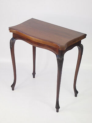 Antique Edwardian Mahogany Card Table - Small Writing Games Table Hall Console