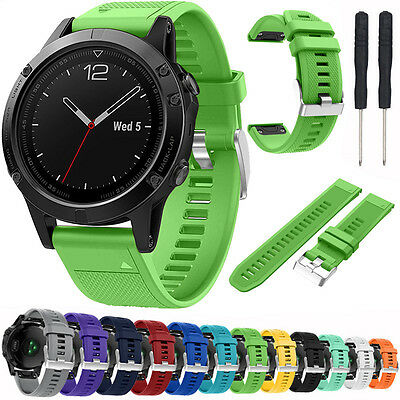 For Garmin Fenix 5/Forerunner 935 Replace Silicone Watch Strap Wristband & Tools