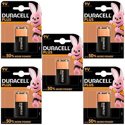 5 x Duracell Plus Power Alkaline Smoke Alarm Battery Type 9V - LR22 MN1604 6LR61