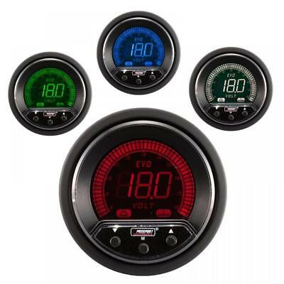 Prosport Evo 52mm LCD DC Volts Voltage Gauge 4 colour with peak and warning