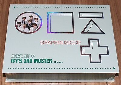 BANGTAN BOYS BTS 3Rd Muster [Army zip+] Blu-Ray + Standing Paper Limited  Edition