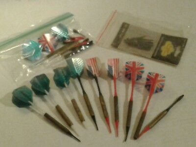 Lot of Vintage Brass darts extra flips and tips inc.