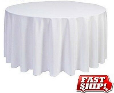 (10) new round 90'' table cloths and (3) 52x114 table cloths