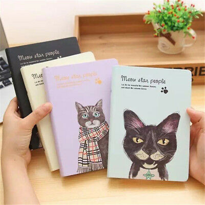 Cat Story 1pc Planner Agenda Scheduler Paper Hard Cover Diaries Study Notebook
