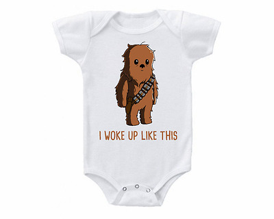 Star Wars Cute Chewbacca Baby Onesie or Tee Shirt Shower Gift Idea