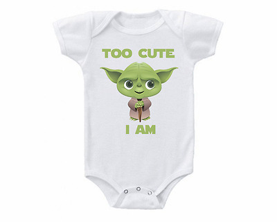 Star Wars Yoda Too Cute I Am Baby Onesie or T-shirt