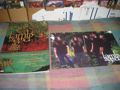 LAMB OF GOD-(ashes of the wake)-1 POSTER-2 SIDED-12X18-NMINT-RARE