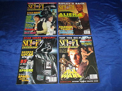Sci-Fi Entertainment (1994) 4 issues 3 Star Wars Covers Alien 4 1997-1999 NM-