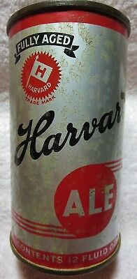 Harvard Ale can 12 oz USBC 80-24 EMPTY 1938 Lowell OI-IRTP flat top.Free Ship