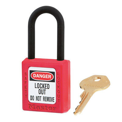 Master Lock Dielectric Safety Lockout Padlock 406RED